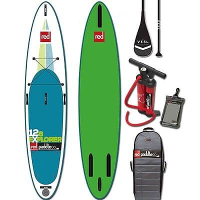 """Red Paddle Co 12'6"""" Explorer inflatable Stand up Paddle Board Review"""