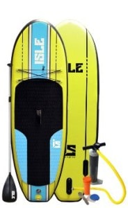 Isle 7 ft 6 inch Kids iSUP with Pump and 3 Piece Adjustable Paddle