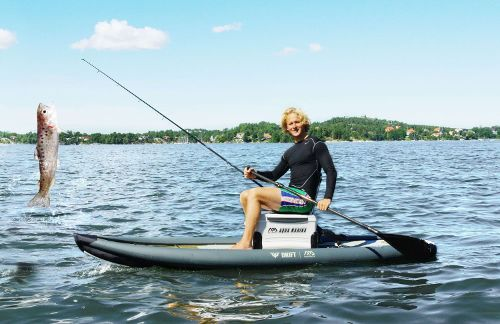 Aqua marina drift fishing inflatable sup board review for Inflatable fishing paddle board
