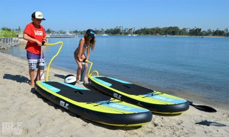 "ISLE Airtech 7'6"" all-around inflatable SUP Board Review"